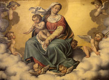 Bergamo - Madonna from side chapel of cathedral Santa Maria Maggiore Royalty Free Stock Photos