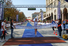 Bergamo marathon Royalty Free Stock Photography
