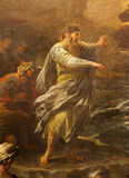 Bergamo - Moses from paint Crossing the Red sea. Bergamo - Moses from paint Passaggio del Mar Rosso by Luca Giordano. Crossing the Red sea paint form church Royalty Free Stock Photos