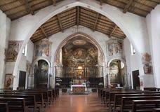Bergamo - Nave of church Michele al pozzo bianco. Stock Photos