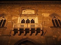 Bergamo - Old city. Landscape on the the ancient Administration Headquarter called Palazzo della Ragione. Bergamo - Old city Citta Alta. One of the beautiful Stock Images