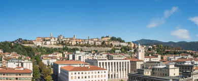 Bergamo - Old city. One of the beautiful city in Italy. Lombardia. Landscape on the old city during a wonderful blu day Royalty Free Stock Photos
