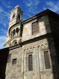 Bergamo - Old city. One of the beautiful city in Italy. Lombardia. The bell tower and the dome of the Cathedral called Santa Maria Royalty Free Stock Photo