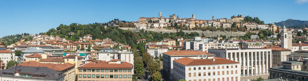 Bergamo - Old city. One of the beautiful city in Italy. Lombardia. Landscape on the old city during a wonderful blu day Stock Image