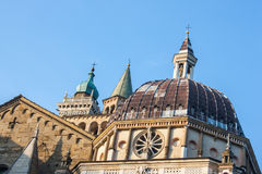 Bergamo, Old city. View of domes and summits of church bells Royalty Free Stock Photography