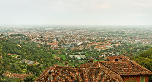 Bergamo old town. Stock Photos