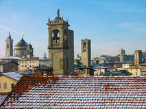 Bergamo old town, Italy stock images