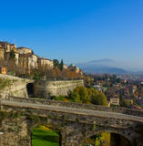 Bergamo old town, Italy Stock Photography