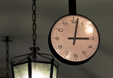Bergamo old Town Rail station Clock Royalty Free Stock Images