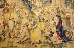 Bergamo - ot tre del gobelin i magi - Santa Maria Maggiore Immagini Stock Libere da Diritti
