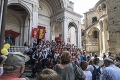 Bergamo - Oude stad Stock Afbeelding