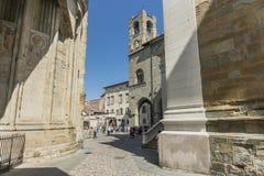 Bergamo - Oude stad Stock Fotografie