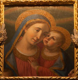 Bergamo - Paint of Madonna with the child by Gian Paolo Lolmo. From church Michele al pozzo bianco on January 26, 2013 in Bergamo, Italy Royalty Free Stock Image