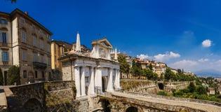 Bergamo, portone della città Fotografia Stock Libera da Diritti