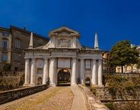 Bergamo, portone della città Fotografia Stock