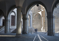 Bergamo - rays between Duomo and cathedral Royalty Free Stock Image