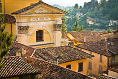 Bergamo Santa Grata Church Fotografia Stock Libera da Diritti