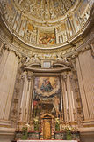 Bergamo - Side chapel of cathedral Santa Maria Maggiore Stock Photos