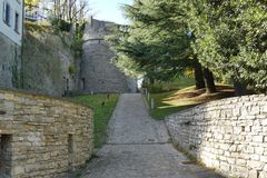 Bergamo - St Vigilio kasztel Obraz Stock