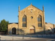 Bergamo - Stary miasto Stary przyklasztorny świętego Agostino dzisiaj uniwersytet Bergamo Zdjęcie Royalty Free