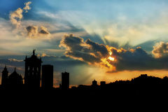 Bergamo Sunset Royalty Free Stock Images