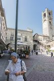 Bergamo - vecchia città Fotografia Stock Libera da Diritti