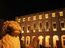 Bergamo - vecchia città Citta Alta Paesaggio sulla fontana di Contarini Fotografia Stock Libera da Diritti