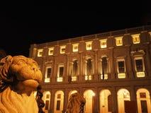 Bergamo - vecchia città Citta Alta Paesaggio sulla fontana di Contarini Immagini Stock Libere da Diritti
