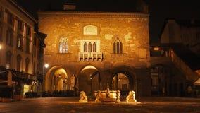 Bergamo - vecchia città Citta Alta Uno di bella città in Italia Fotografia Stock