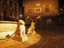 Bergamo - vecchia città Citta Alta Uno di bella città in Italia Immagine Stock