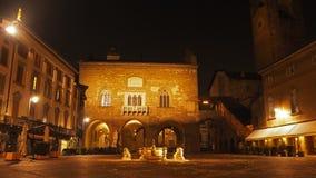 Bergamo - vecchia città Citta Alta Uno di bella città in Italia Fotografie Stock