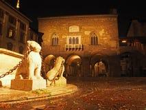 Bergamo - vecchia città Citta Alta Uno di bella città in Italia Fotografia Stock Libera da Diritti