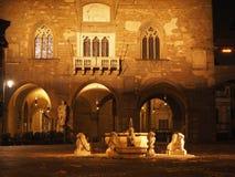 Bergamo - vecchia città Citta Alta Uno di bella città in Italia Immagini Stock Libere da Diritti