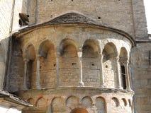 Bergamo - vecchia città I dettagli architettonici della cattedrale hanno chiamato Santa Maria Maggiore Immagini Stock Libere da Diritti