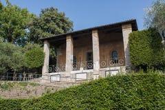 Bergamo, vecchia città La chiesa di Santa Eufemia dentro la vecchia fortezza Fotografia Stock