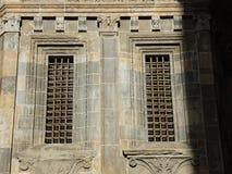 Bergamo - vecchia città Lombardia I dettagli architettonici della cattedrale hanno chiamato Santa Maria Maggi Immagini Stock