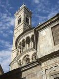 Bergamo - vecchia città Uno di bella città in Italia Lombardia Il campanile e la cupola della cattedrale hanno chiamato Santa Mar Immagine Stock Libera da Diritti