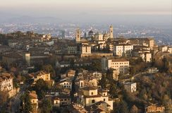 Bergamo View. View from funicular on Bergamo Royalty Free Stock Image