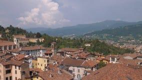Bergamo widoku z lotu ptaka panorama w Włochy zdjęcie wideo