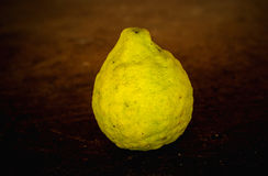 Bergamot  on brown background. Food Royalty Free Stock Photo
