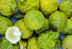 The bergamot. Fruit group in basket stock photography