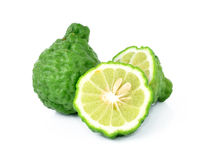 Bergamot. Fruit isolated white background royalty free stock photo