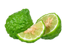 Bergamot fruit isolated on the white background royalty free stock photos