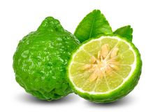 Bergamot fruit isolated on white clipping path stock images