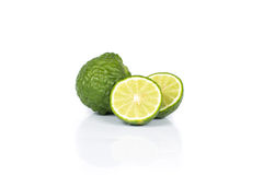 Bergamot. Fruit on white background stock photography