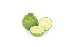 Bergamot. Fruit on white background royalty free stock image