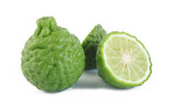 Bergamot fruit. On white background stock photo