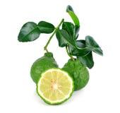 Bergamot fruit. On a white background stock image