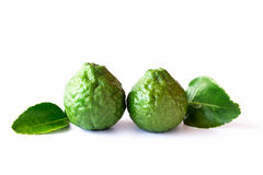 Bergamot fruit on a white background Royalty Free Stock Images