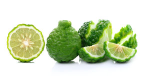 Bergamot fruit on white background Stock Image
